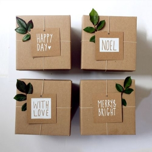 Крафт упаковка для подарка своими руками