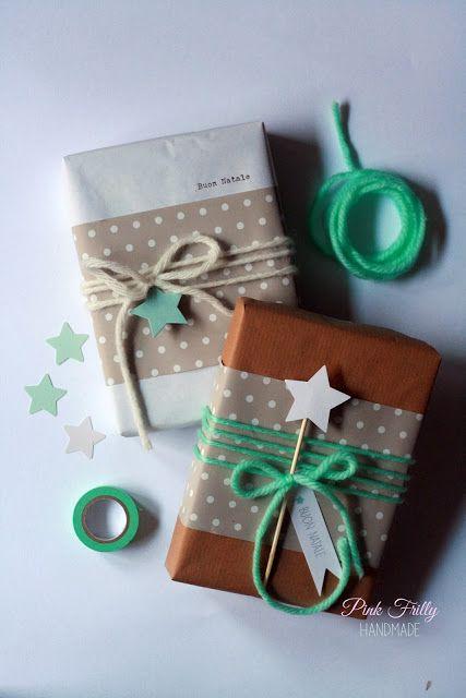 упаковка подарка звездочками