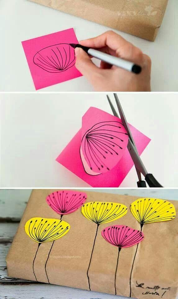 упаковка подарка цветами